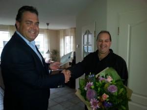 Walter van Geffen 25 jaar in dient van Jan Deckers jr bv