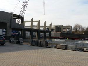 De nieuwbouw vordert gestaag.