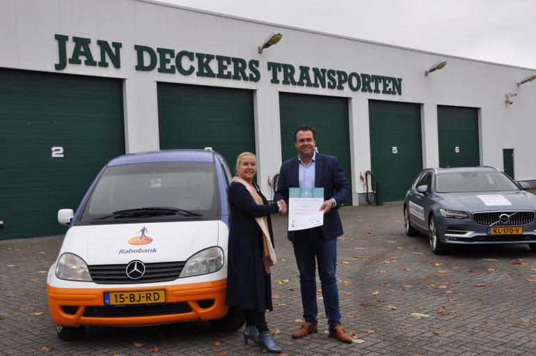 Jan Deckers Jr. genomineerd voor ondernemer van het jaar - Jan Deckers Jr. B.V.